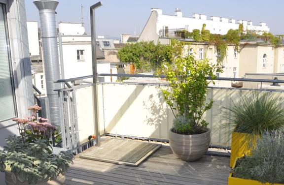 Dachterrasse mit Bepflanzung