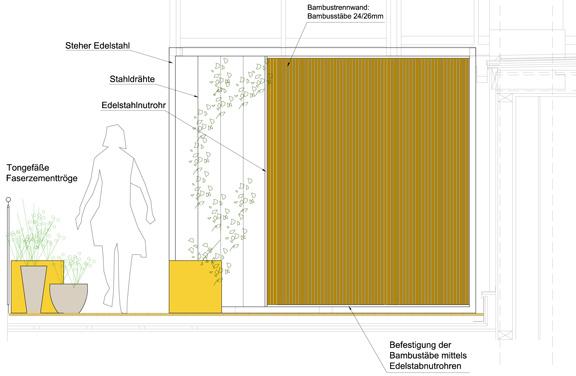 Dachterrasse  - Plan - Ausschnitt
