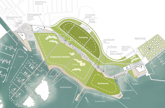 Visualisierung - Wettbewerb Masterplan Seebad Breitenbrunn