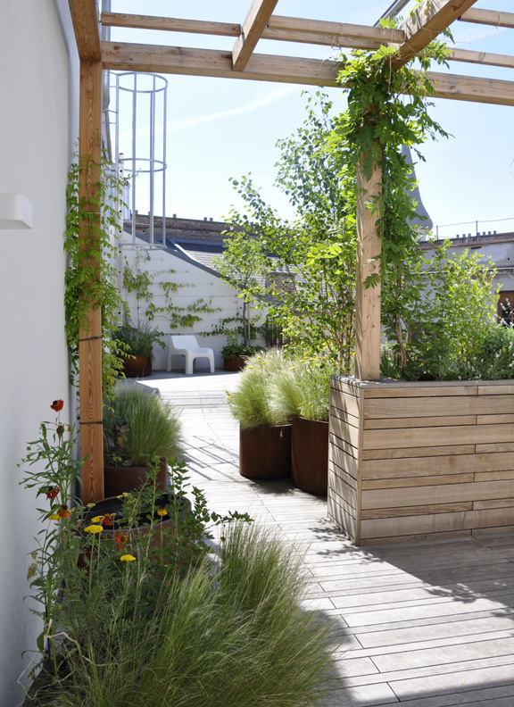 Dachgarten - Dachgarten - Blick aus der Pergola